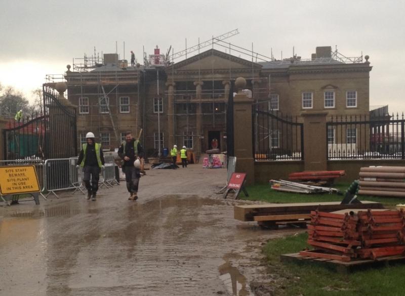 Sawley Hall Refurbishment - Marble Floor Protection