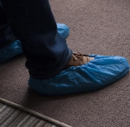 Blue over shoes