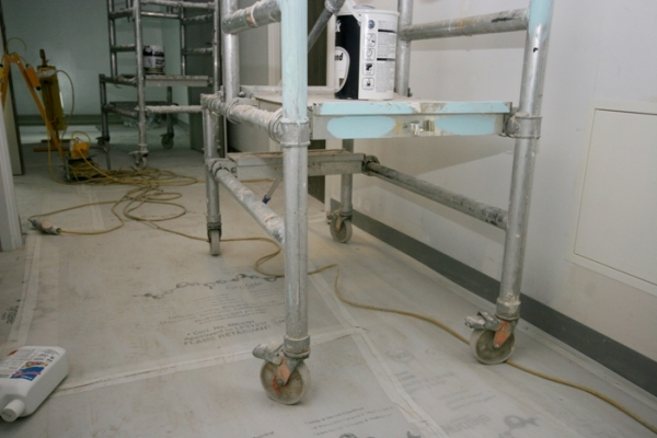 Flame retardant floor protection