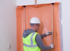 Florprotec orange flame retardant polythene