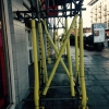 High Visibility Scaffold Pole Protector